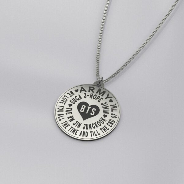 BTS We Love You Engraved Casual Necklace