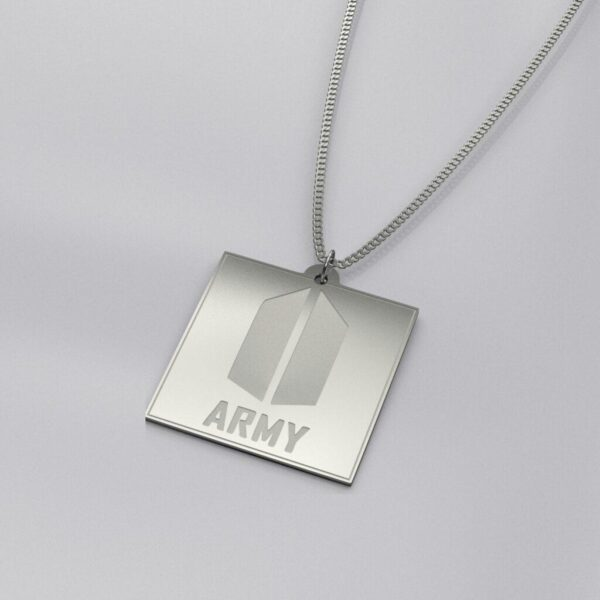 BTS ARMY Logo Engraved Exclusive Necklace