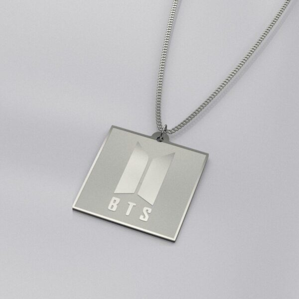 BTS Logo Engraved Charm Necklace