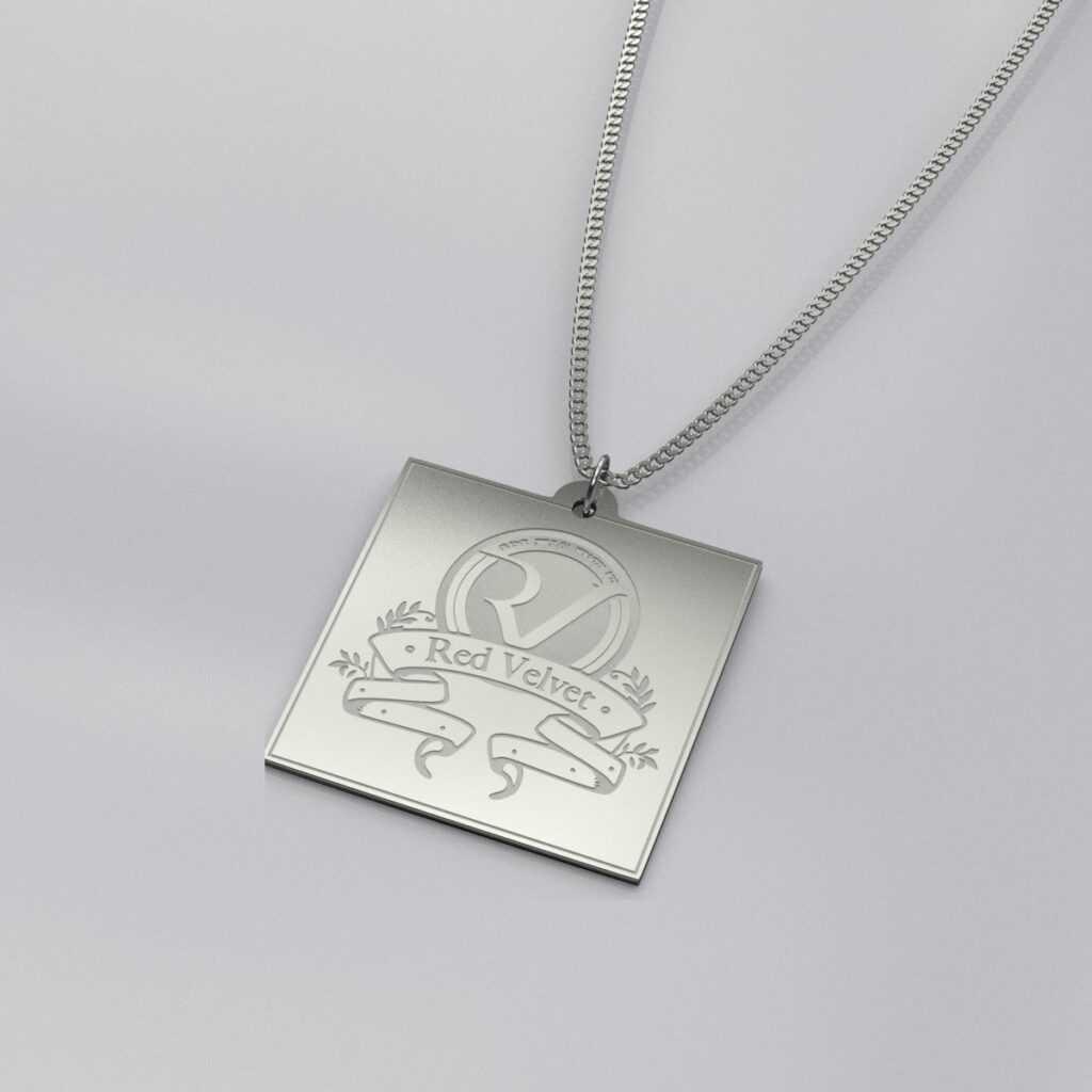 Red Velvet Stylish Engraved Charm Necklace