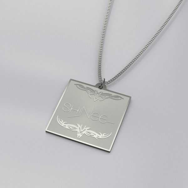 Shinee Logo Engraved Charm Necklace