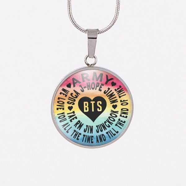 BTS We Love You Rainbow Charm Necklace