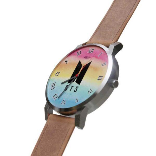BTS Logo Rainbow Quartz Watch