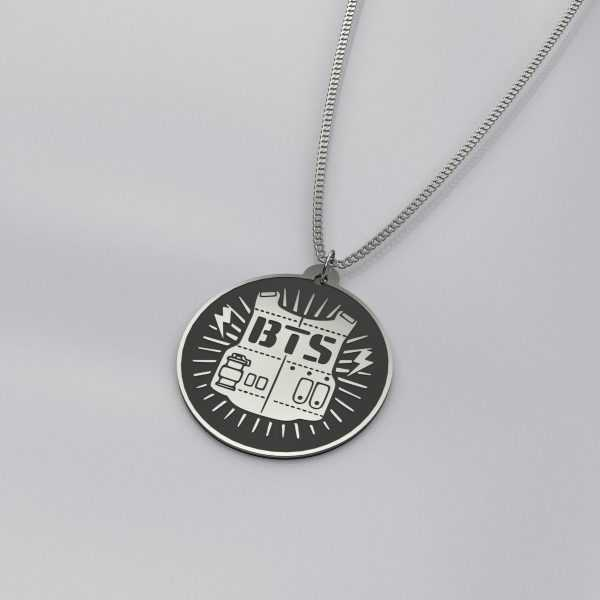 Engraved BTS Logo Beautiful Necklace