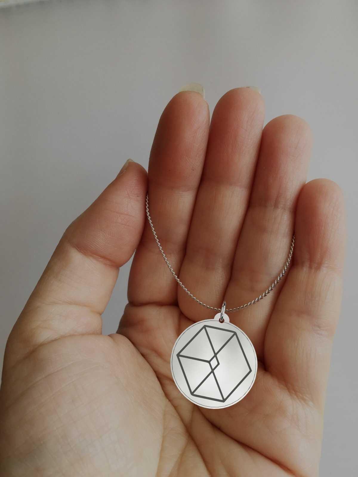 Engraved EXO Logo Impressive Charm Necklace