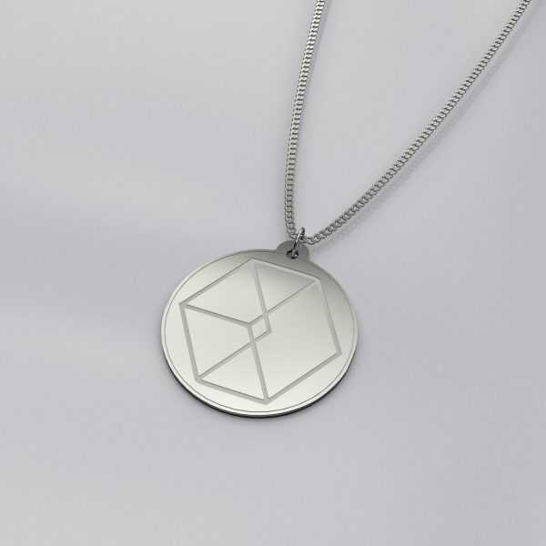 Engraved EXO Logo Impressive Charm Necklace
