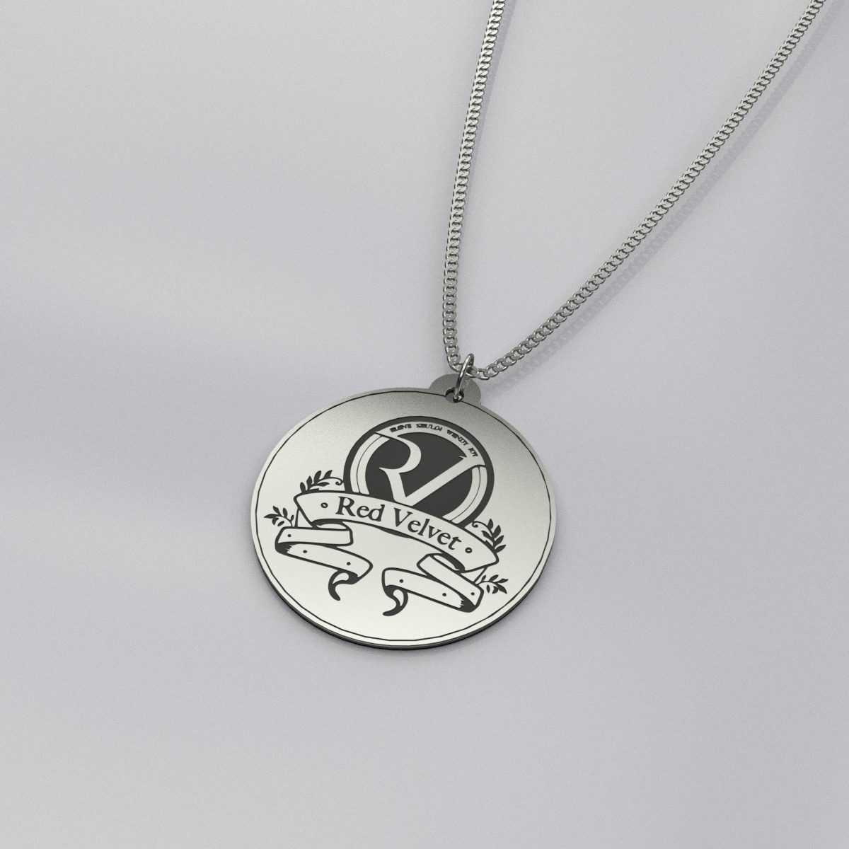 Red Velvet Logo Charm Necklace