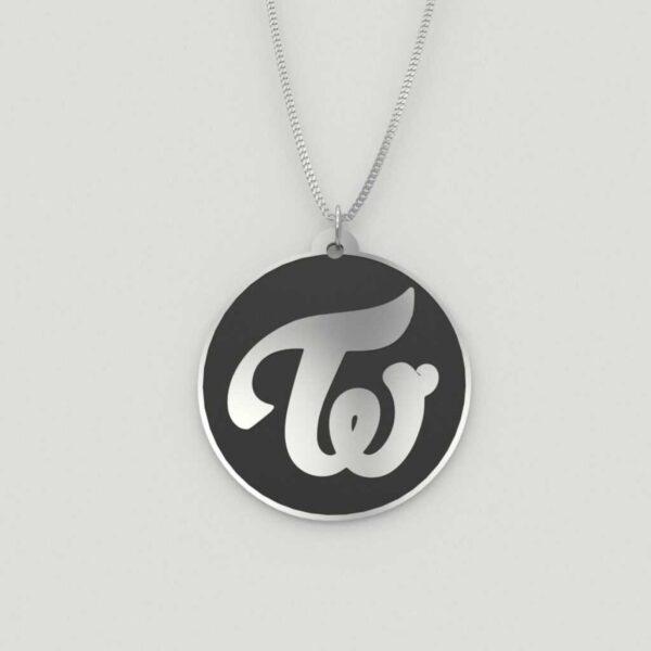 Beautiful Twice Logo Charm Necklace