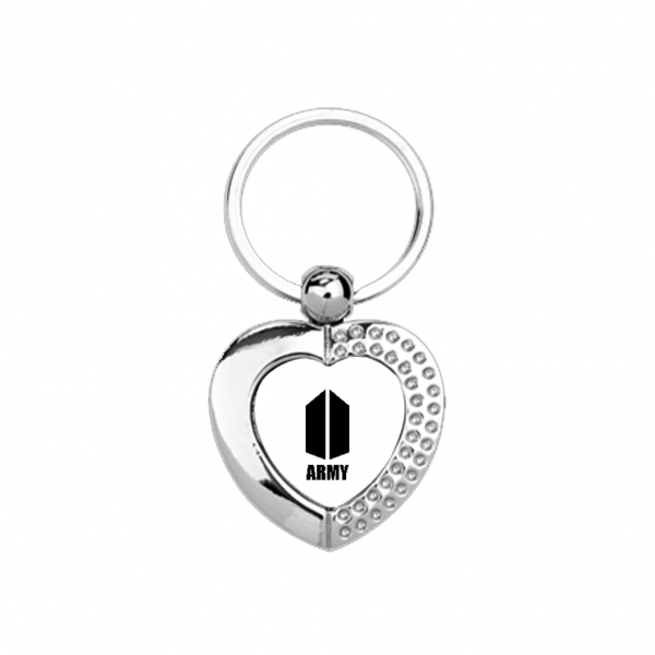 BTS Army Heart Metal Keychain