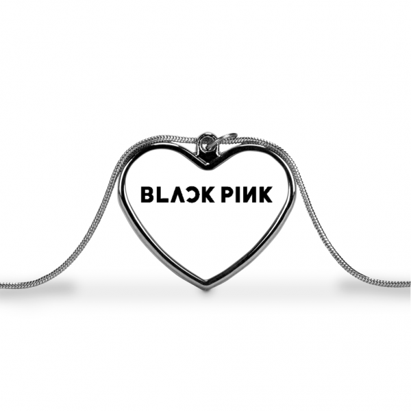 BlackPink Logo Love Heart Necklace