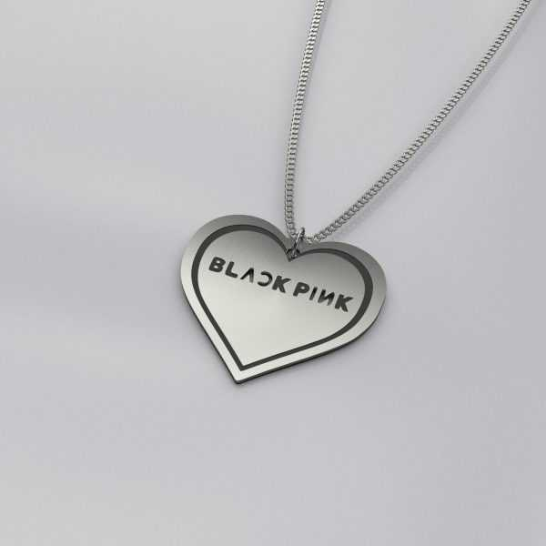 BlackPink Heart Charm Necklace