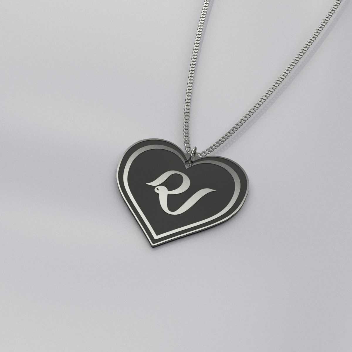 Red Velvet Logo Heart Shape Necklace