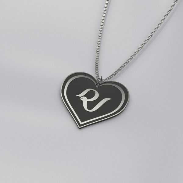 Red Velvet Logo Heart Shape Necklace