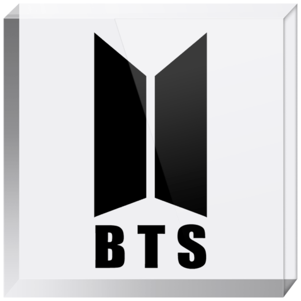 BTS Stylish Logo Acrylic Blocks
